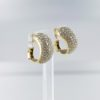 Boucles d'oreilles clips tigés en or jaune 18 carats pavage diamants
