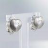 boucles d'oreilles coeur diamant
