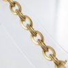 Bracelet ancien maille forçat torsadée