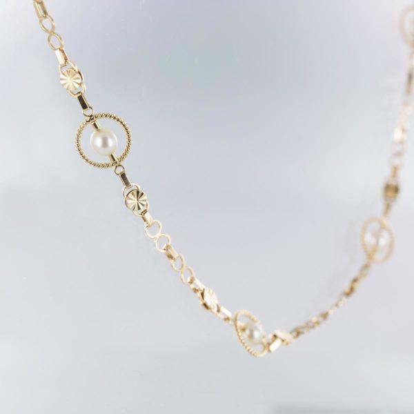 Tour de cou maille ancienne perles