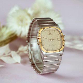 Montre Omega Constallation avec bracelet en acier et mouvement quartz   #bijouterie #bijouxanciens #montre #montreancienne #vintagewatch