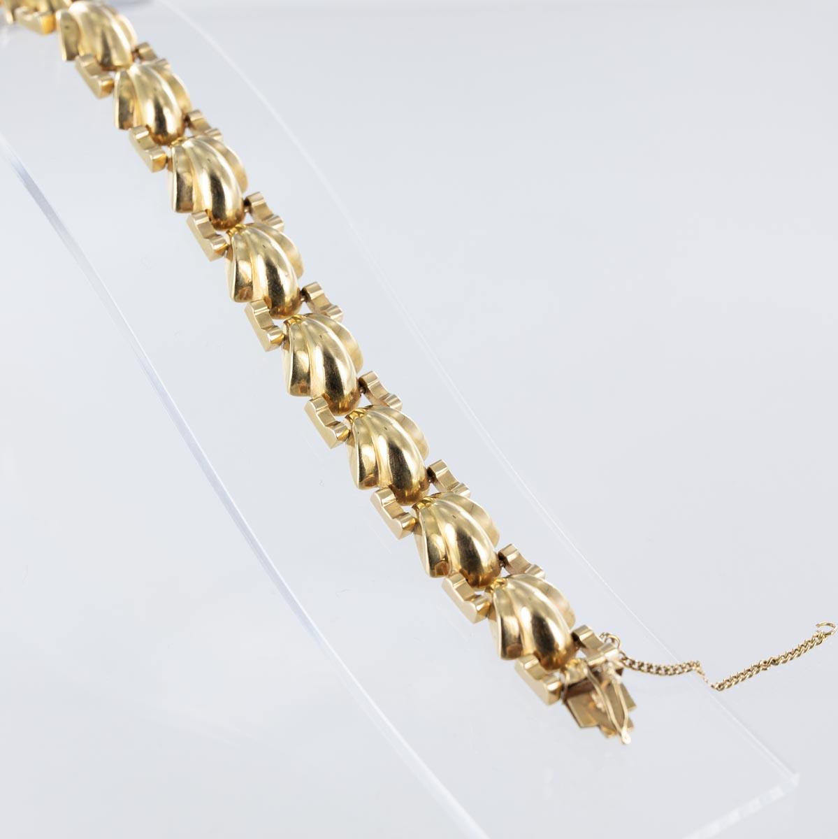 Bracelet Art Déco en or rose