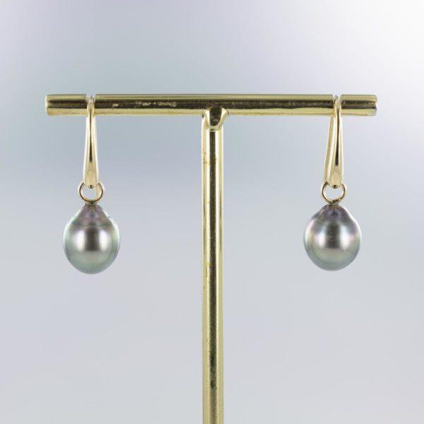 Boucles d'oreilles pendantes perles de Tahiti