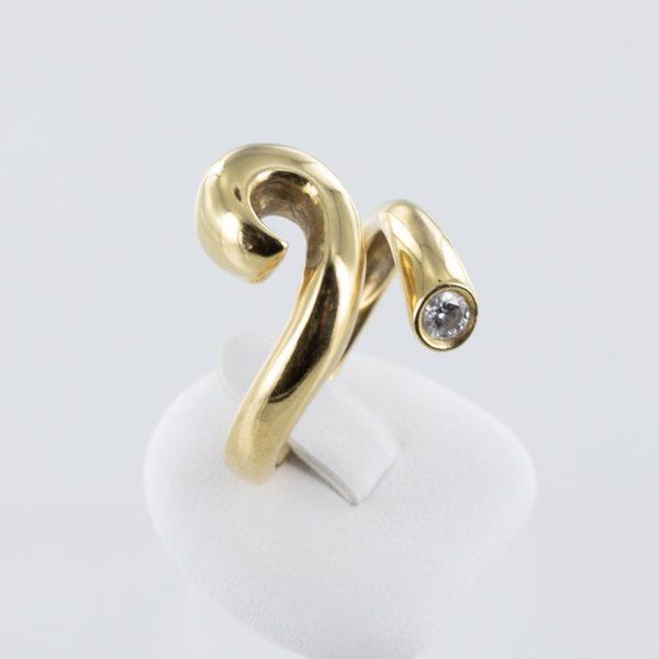 Bague serpent diamant