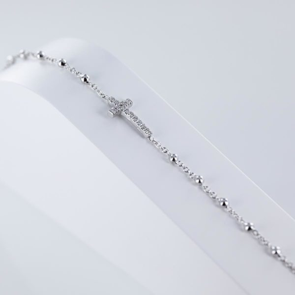 Bracelet croix diamants